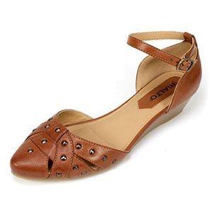 RIALTO MYA ankle strap sandal brown studded sandal